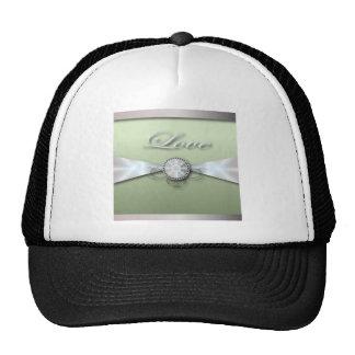 Invitación y favor elegantes del boda de la verde  gorras de camionero