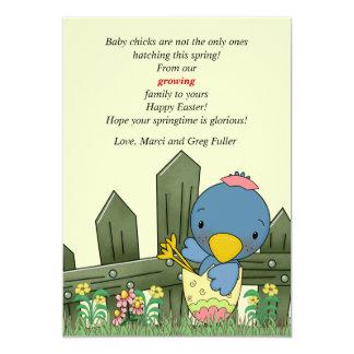 Invitación y Pascua C del embarazo del pájaro del Invitación 12,7 X 17,8 Cm