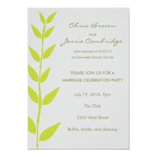 Invitación ya casada del fiesta del bambú de la