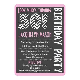 Invitación ya de encargo del cumpleaños del rosa