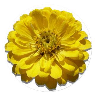 Invitación - Zinnia amarillo Invitación 13,3 Cm X 13,3cm