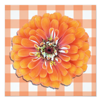 Invitación - Zinnia anaranjado Invitación 13,3 Cm X 13,3cm