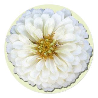Invitación - Zinnia blanco Invitación 13,3 Cm X 13,3cm