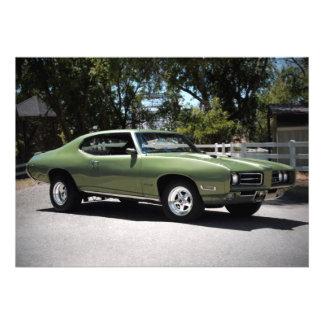 Invitaciones 1969 del coche del músculo de Pontiac Invitación