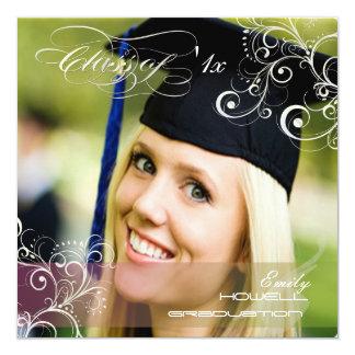 Invitaciones 2011 de la foto de la graduación de