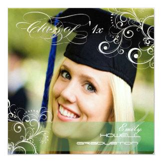 Invitaciones 2011 de la foto de la graduación de invitaciones personales