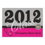 Invitaciones 2012 de la fiesta de graduación de la invitación 12,7 x 17,8 cm