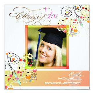 """Invitaciones 2012 de la foto de la graduación de invitación 5.25"""" x 5.25"""""""