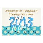 Invitaciones 2013 de la fiesta de graduación de la invitación 12,7 x 17,8 cm