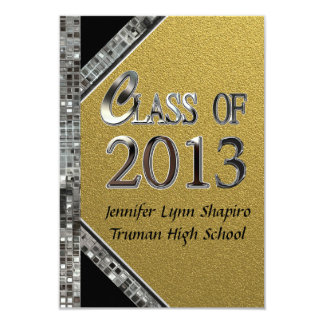 Invitaciones 2013 de la graduación del oro y de la comunicados personales