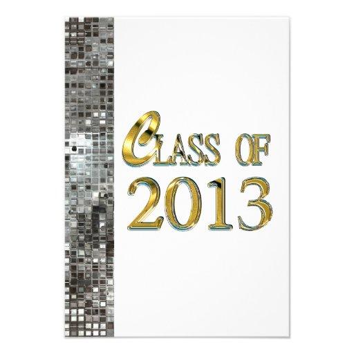 Invitaciones 2013 del graduado de las lentejuelas  comunicados personalizados