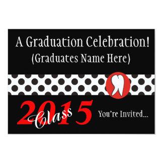Invitaciones 2015 de la fiesta de graduación del invitación 12,7 x 17,8 cm