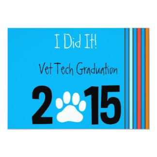 Invitaciones 2015 de la graduación de la invitación 12,7 x 17,8 cm