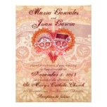 Invitaciones 2 del boda de los pares del cráneo de invitacion personal