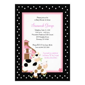 Invitaciones 5x7 de la fiesta de bienvenida al beb comunicados personalizados