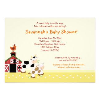 Invitaciones 5x7 de la fiesta de bienvenida al beb comunicados personales