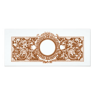 Invitaciones abiertas adornadas del boda del invitación 10,1 x 23,5 cm