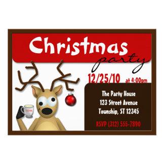 Invitaciones achispadas divertidas del navidad del invitacion personalizada