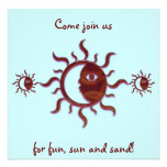 Invitaciones adaptables de Sun y de la luna Anuncio Personalizado