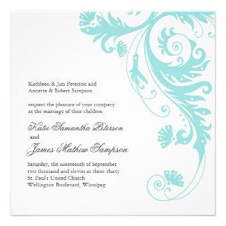 Invitaciones adaptables del boda
