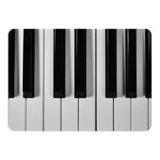"""Invitaciones adaptables del teclado de piano invitación 5"""" x 7"""""""