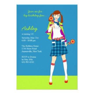 Invitaciones adolescentes del fiesta del chica del