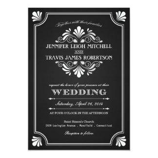 """Invitaciones adornadas del boda de la pizarra del invitación 5"""" x 7"""""""
