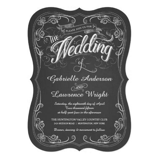 Invitaciones adornadas del boda del arte de los bi invitacion personalizada