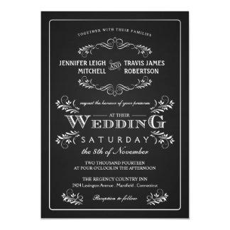 Invitaciones adornadas del boda del vintage de la invitaciones personales