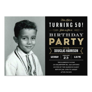 """Invitaciones adultas de la fiesta de cumpleaños de invitación 5"""" x 7"""""""