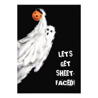 Invitaciones adultas del fiesta de Halloween Anuncio Personalizado