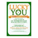Invitaciones afortunadas del fiesta del día del invitación 12,7 x 17,8 cm