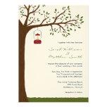 Invitaciones al aire libre del boda que acampan anuncio personalizado