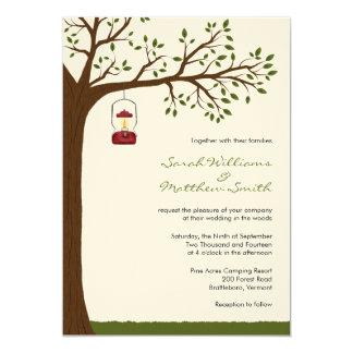Invitaciones al aire libre del boda que acampan invitación 12,7 x 17,8 cm