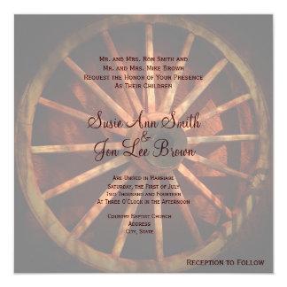 Invitaciones al sudoeste del boda de la rueda de invitación 13,3 cm x 13,3cm