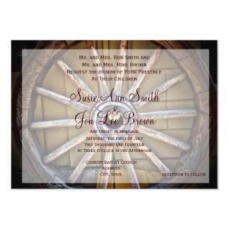 Invitaciones al sudoeste del boda de la rueda de invitación 11,4 x 15,8 cm