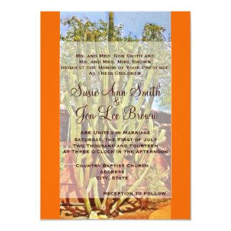 Invitaciones al sudoeste del boda del cactus invitación 11,4 x 15,8 cm
