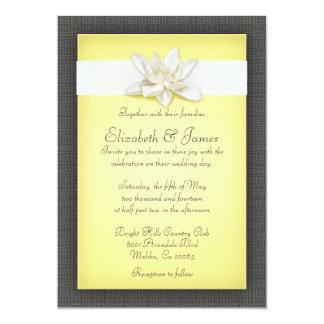 Invitaciones amarillas del boda invitacion personalizada