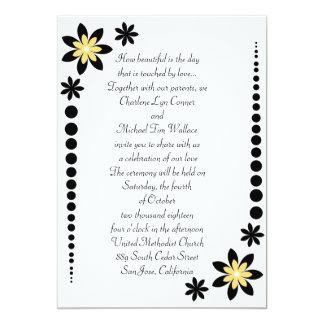 """Invitaciones amarillas del boda del rayo de sol invitación 5"""" x 7"""""""