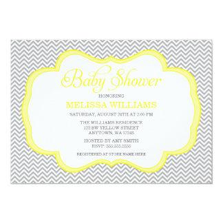 Invitaciones amarillas grises de la fiesta de invitación 12,7 x 17,8 cm