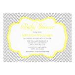 Invitaciones amarillas grises de la fiesta de bien invitación personalizada