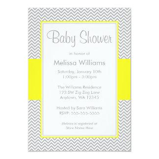 Invitaciones amarillas y grises de la fiesta de invitación 12,7 x 17,8 cm