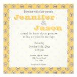 Invitaciones amarillas y grises del boda del model anuncios personalizados