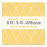 Invitaciones amarillas y grises del boda del model invitacion personalizada