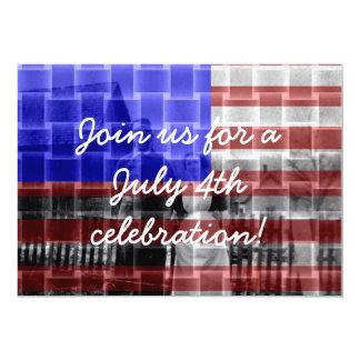Invitaciones americana del fiesta del 4 de julio invitación 12,7 x 17,8 cm