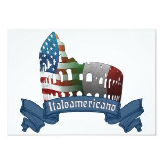"""Invitaciones americanas italianas del coliseo de invitación 5"""" x 7"""""""