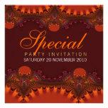 Invitaciones anaranjadas del Special de la eleganc Invitacion Personal