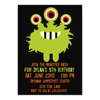 Invitaciones anaranjadas verdes de la fiesta de anuncios personalizados