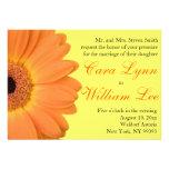 Invitaciones anaranjadas y amarillas del boda de l