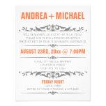 Invitaciones anaranjadas y grises de la recepción  invitaciones personalizada